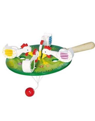 Goki® - Dziobiące kurki, gra zręcznościowa, Goki 53915