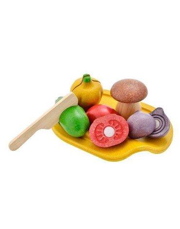 Drewniane warzywa z deską do krojenia, Plan Toys®