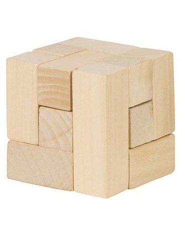 Goki® - Drewniana kostka układanka logiczna, Goki HS 001