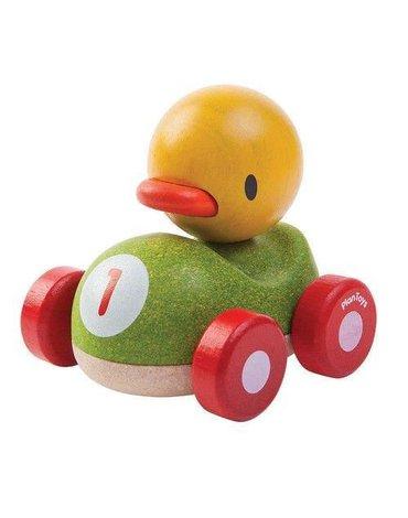 Drewniana wyścigówka kaczka, Plan Toys®