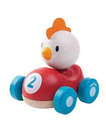 Drewniana wyścigówka kurczak, Plan Toys®