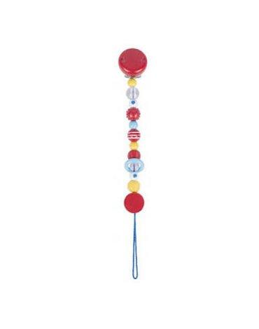 Goki® - Łańcuszek do smoczka, wzór różowy, Heimess 737150