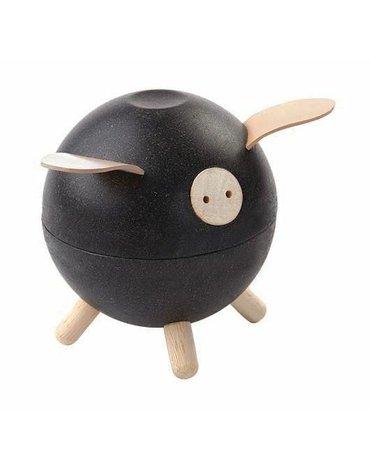 Skarbonka świnka, kolor czarny | Plan Toys®