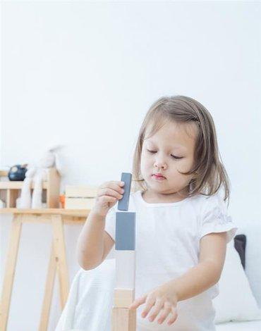 Drewniane klocki do nauki ułamków, styl nowoczesny, 15el.,Plan Toys