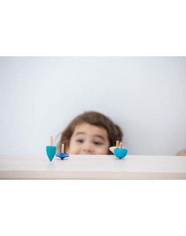 Mini zabawa zręcznościowa, 4 bączki | Plan Toys®