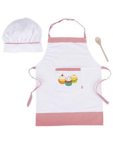 Goki® - Akcesoria kucharza - fartuch czapka łyżka, Goki