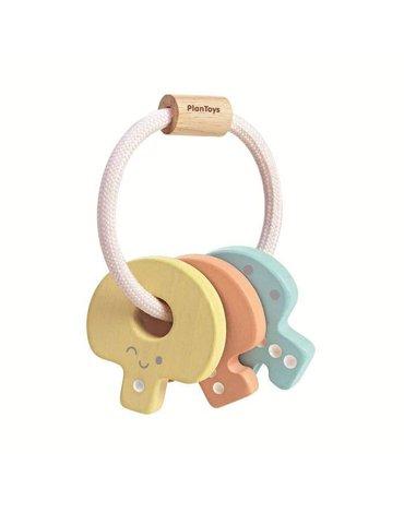Plan Toys - Pastelowa grzechotka klucze, PLTO-5251