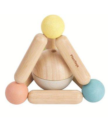 Plan Toys - Pastelowa grzechotka piramidka, PLTO-5256