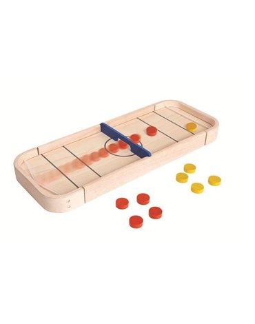 Plan Toys - Drewniana gra Shuffleboard i Cymbergaj 2w1, PT4626