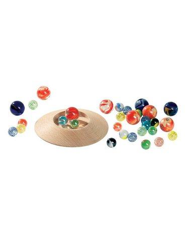 Goki® - Szklane kulki z talerzem do gry, 31 szt. Goki