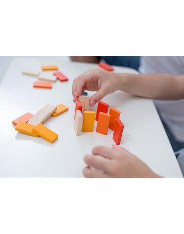 Mini gra zręcznościowa, wyścig klocków | Plan Toys