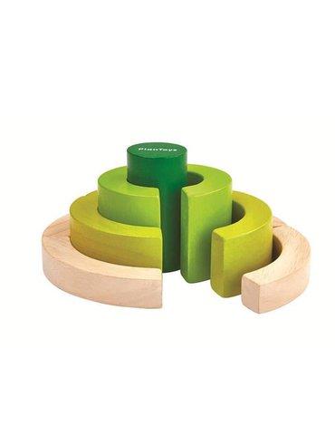 Drewniane klocki, nauka ułamków | Plan Toys