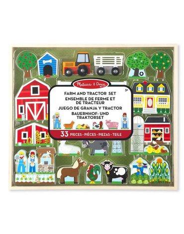 Melissa&Doug® - Drewniany Duży zestaw Farma, MD14800