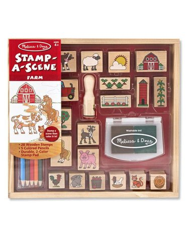 Melissa&Doug® - Melissa and Doug, Drewniane Stempelki Farma, MD18592