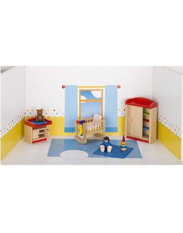 Goki® - Pokój niemowlaka do domu dla lalek, GOKI-51905