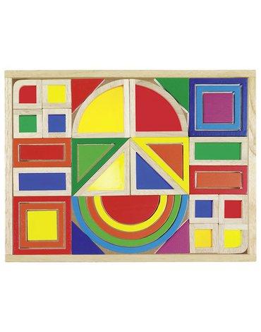 Goki® - Kolorowe klocki z okienkami, GOKI-58620