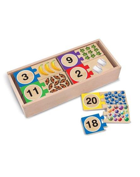 Melissa&Doug® - Melissa and Doug, Puzzle Drewniane Nauka Liczenia, 4+