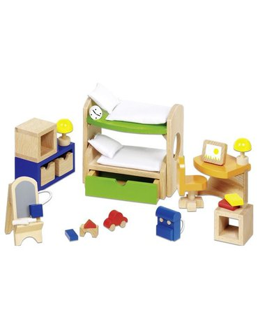 Goki® - Sypialnia dziecięca - mebelki do domku dla lalek, GOKI-51718