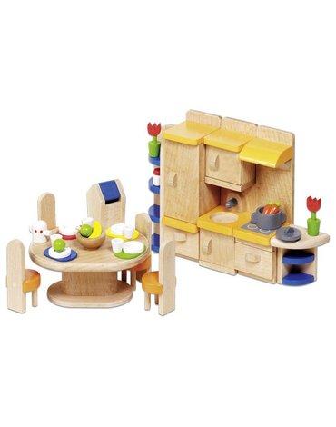 Goki® - Kuchnia z jadalnią - mebelki do domku dla lalek, GOKI-51747