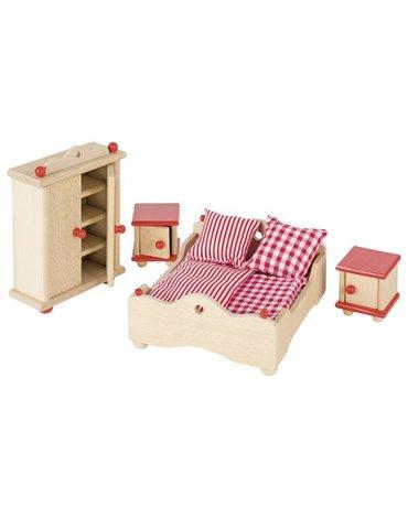 Goki® - Sypialnia - mebelki do domku dla lalek, GOKI-51954