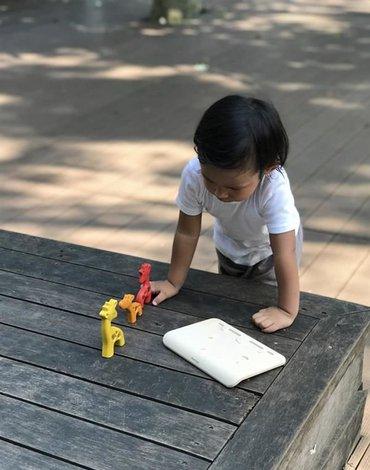 Żyrafy - Puzzle drewniane, Plan Toys