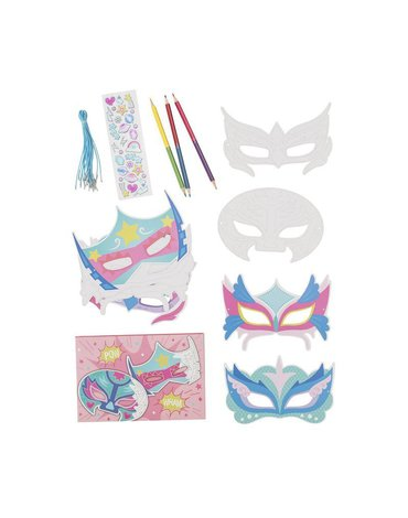 Tiger Tribe® - Maski do samodzielnego zdobienia, zestaw różowy