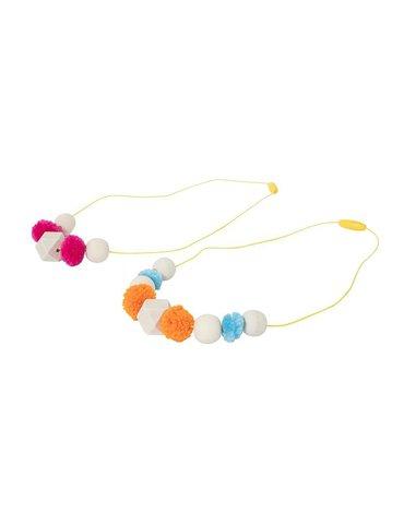 Tiger Tribe® - Biżuteria do samodzielnego wykonania, naszyjnik - pompony i koraliki