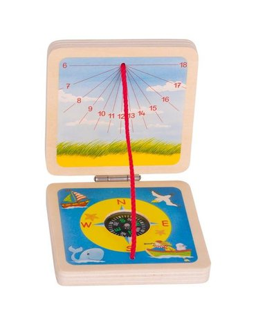 Goki® - Kieszonkowy zegar słoneczny z kompasem