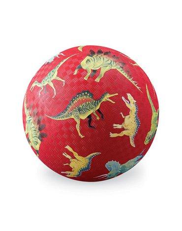 Crocodile Creek® - Piłka 18 cm, wzór czerwone dinozaury