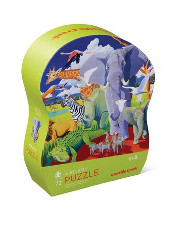 Crocodile Creek® - Puzzle 72 el.,Dzikie safari