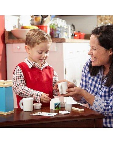 Melissa&Doug® - Melissa, Drewniany zestaw kawy