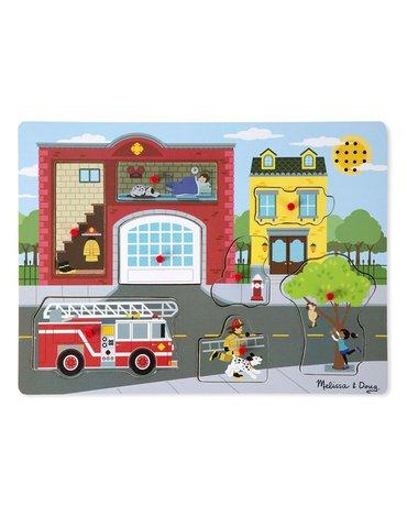 Melissa&Doug® - Melissa, Układanka dźwiękowa – Straż Pożarna