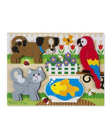 Melissa&Doug® - Melissa, Układanka drewniana – zwierzęta domowe 20 el.