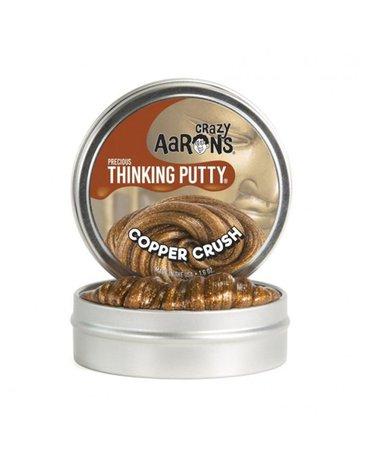 Crazy Aaron, Copper Crush, brokatowa, Inteligentna plastelina puszka 7,5 cm. 45 g.