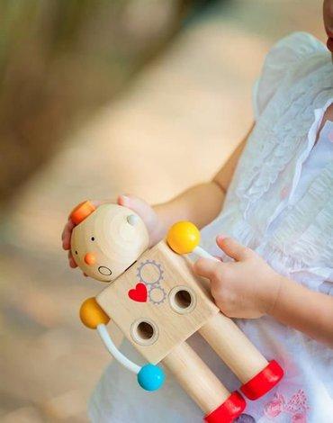 Drewniany robot - zestaw konstrukcyjny, Plan Toys