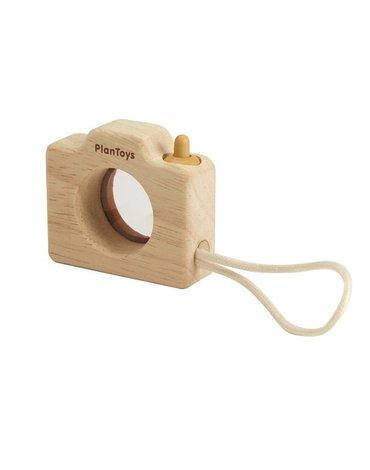 Mój Mini Aparat drewniany z kalejdoskopem, Plan Toys