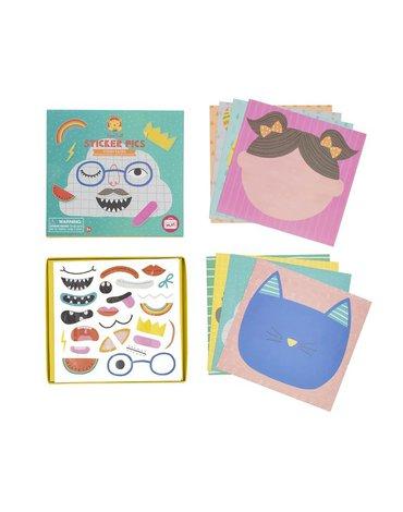 Tiger Tribe® - Zestaw STICKER PICS: Śmieszne twarze - zestaw kart z naklejkami, Tiger Tribe 60308