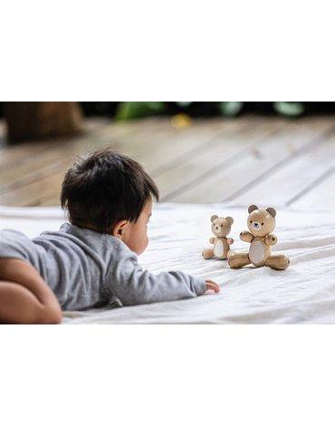 Mały i duży miś drewniany, Plan Toys