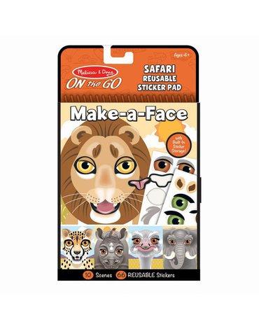 Melissa&Doug® - Naklejki Stwórz twarz: Safari