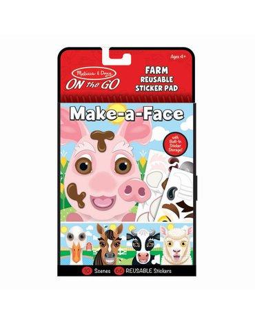 Melissa&Doug® - Naklejki Stwórz twarz: Farma