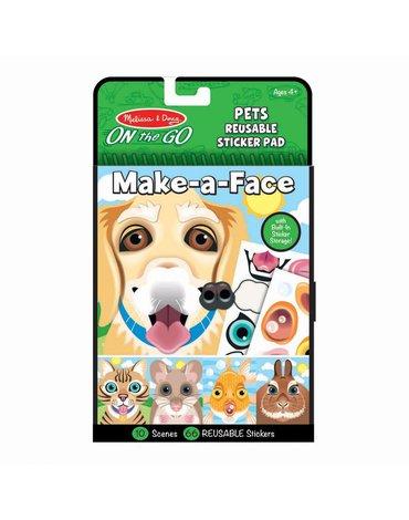 Melissa&Doug® - Naklejki Stwórz twarz: Zwierzęta