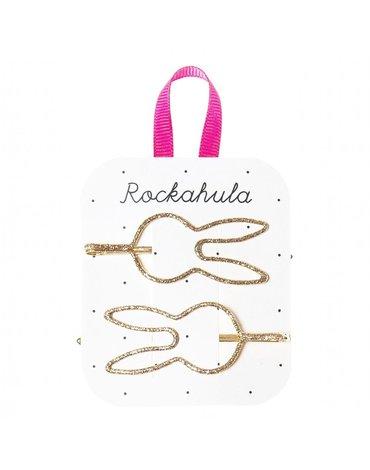 Rockahula Kids - wsuwki do włosów Glitter Bunny Gold