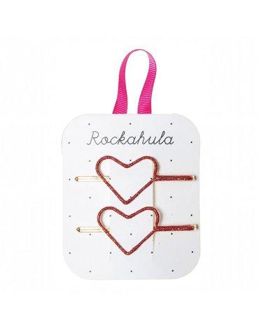 Rockahula Kids - wsuwki do włosów Glitter Heart Red