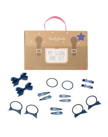 Rockahula Kids - zestaw szkolny do włosów niebieski 16 szt.