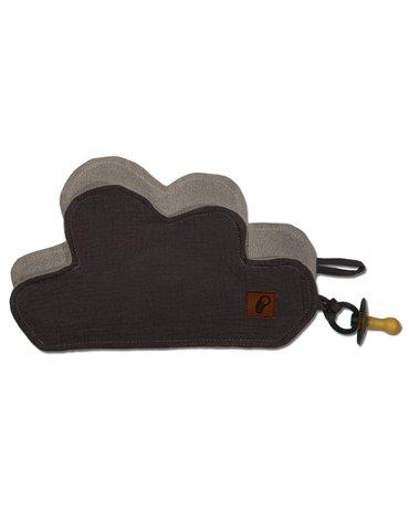 Hi Little One - Przytulanka muślinowa dou dou z zawieszką na smoczek cozy muslin pacifier clip Cloud Iron