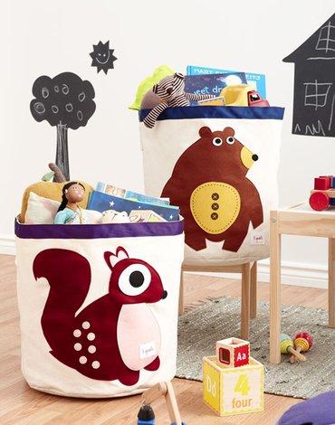 3 Sprouts Kosz Na Zabawki Niedźwiedź