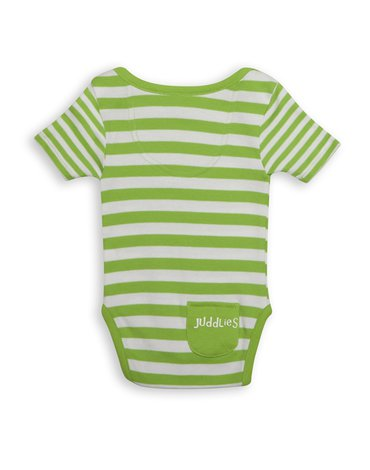 Juddlies Body Greenery Stripe 6-12m