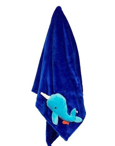 Zoocchini Kocyk Niebieski Wieloryb