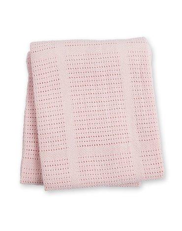 Lulujo Kocyk Bawełniany Tkany Pink