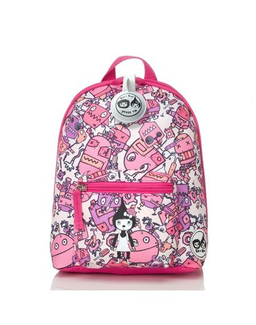 Zip & Zoe Plecak Mini ze Smyczą Robot Pink